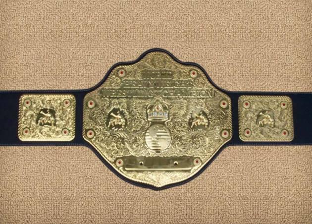 wcw world title belt